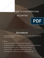 Chapter 1 Introduction to Investment