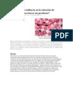 Qué factores influyen en la selección de materiales para hacer un producto.pdf