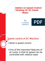 Speed Control & Braking of DC Shunt Motor