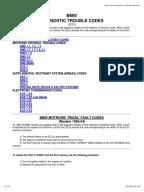OBD2 Trouble Codes