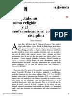La Jornada-El capitalismo como religión y el neofranciscanismo como su disciplina