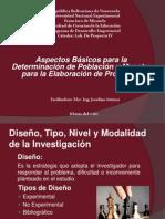 Aspectos basicos de poblacion y muestra para la elaboración de proyectos (Unidad II)