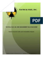 Tactical FLEX, Inc. Network Security Audits and Vulnerability Assessment Guide