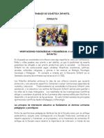 APORTACIONES PSICOLÓGICAS Y PEDAGÓGICAS A LA EDUCACIÓN INFANTIL