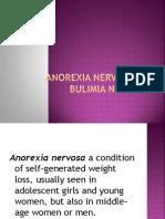 Anorexia & Bulimia Nervousa