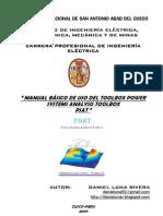Manual de Uso Básico del  Power System Analysis Toolbox