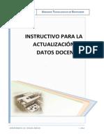 Instructivo Actualizacion - Datos Docente