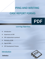 Developing and Writing CRF