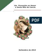 Guion Procesion Santa Rita Setiembre2013