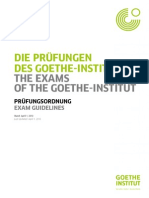 Regulamento Exames Goethe Institute Pruefungsordnung