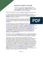 Breve reseña Histórica de la Salud en Venezuela