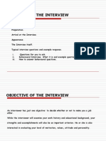 Objective of the Interview