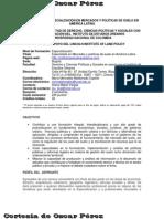 Convocatoria 2009 Especialización  Mercado y Suelo Urbano