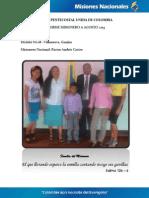 Informe Misionero a Agosto 2013 - Villanueva, Guajira - Distrito 18