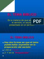 El Tema Biblico