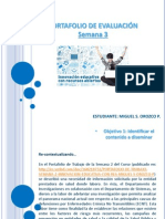 PORTAFOLIO DE EVALUACIÓN SEMANA 3 - INNOVACIÓN EDUCATIVA CON REA - MIGUEL S OROZCO P