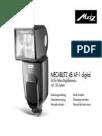 Mecablitz 48 AF-1 Digital Nikon D F NL GB I E