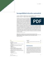 Incompatibilidad eritrocítica maternofetal