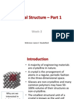 Crystal Structure – Part 1