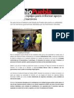 22-09-2013 Sexenio Puebla - SSEP envía equipo para reforzar apoyo médico en Guerrero