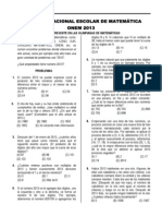 OLIMPIADA NACIONAL ESCOLAR DE MATEMÁTICA