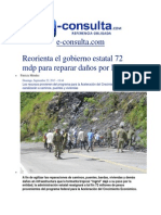 22-09-2013 e-consulta.com - Reorienta el gobierno estatal 72 mdp para reparar daños por Ingrid