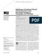 AJR - Significance of Incidental Thyroid Nodules Detected on CT