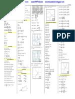 Formulario de Calculo Diferencial e Integral