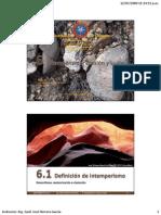 6. Intemperismo, erosión y suelo