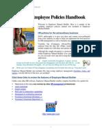 Sample Employee Policies Manual 2011