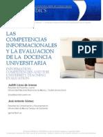 Las Competencias Informacionales y La Evaluacion de La Docencia Universitaria