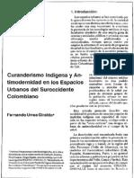 Curanderismo Indigena y Antimodernidad en Los Espacios Urbanos Del Suroccidente Colombiano
