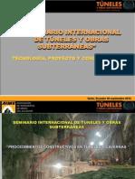 22 Procedimientos constructivos en túneles y cavernas - Oscar Ochoa