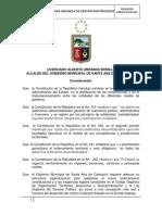 Estructura Organica de Gestion Por Procesos Cotacachi