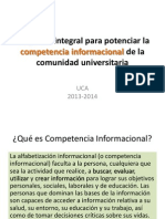 Programa Integral Para Potenciar La Competencia Informacional