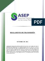 Reglamento de Transmision Octubre 2011