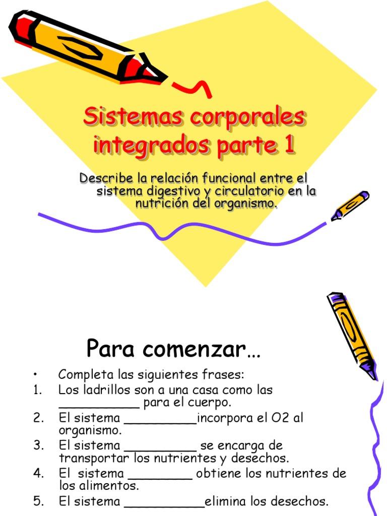 Sistemas Corporales Integrados Parte 1, 6to