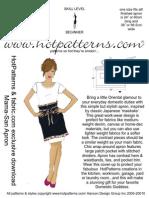 HP and Fabric.com MAMA-SAN APRON Download