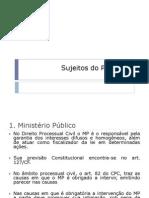 Sujeitos Do Processo - MP, Juiz e Auxiliares