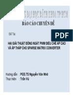 Seminar -Sparse AC AC Matrix Converter- Tran Vu