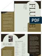 Flume Press at CSU, Chico Brochure