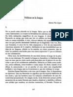 Pía Lopez - Políticas en la lengua