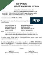 AVISO IMPORTANTE _ElectricaElectronica