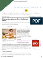 10 erros dos pais na alimentação dos filhos - Filhos - iG