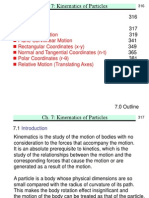 Kinematics of Particles