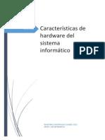 Características de hardware del sistema informático