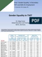Gender Equality in TVET