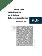 Gustavo Castro. Movimiento social Mesoamérica defensa de recursos naturales
