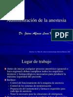 ® Administración de la anestesia (UTE)