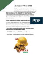 Serie de Normas OHSAS 18000 JUNIOR